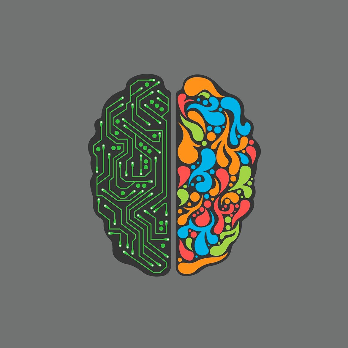 мозг два полушария картинки подходящий рисунок или